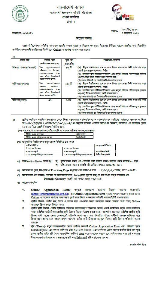 Probashi Kallyan Bank Job Circular 2021 1 1