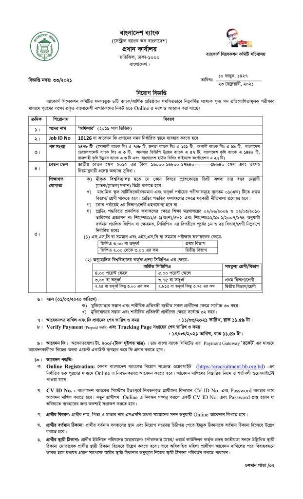 Bangladesh Bank Job Circular 2021 Combined 8 Bank job Circular 2021 1