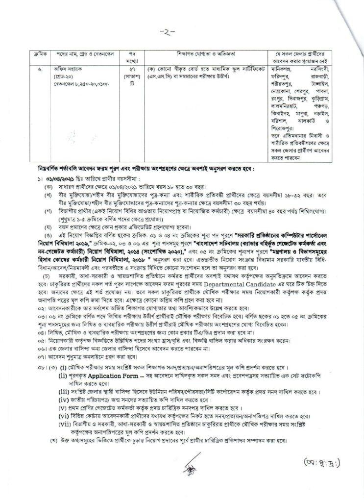 MOF job circular 2021 bdjobspublisher.com 2
