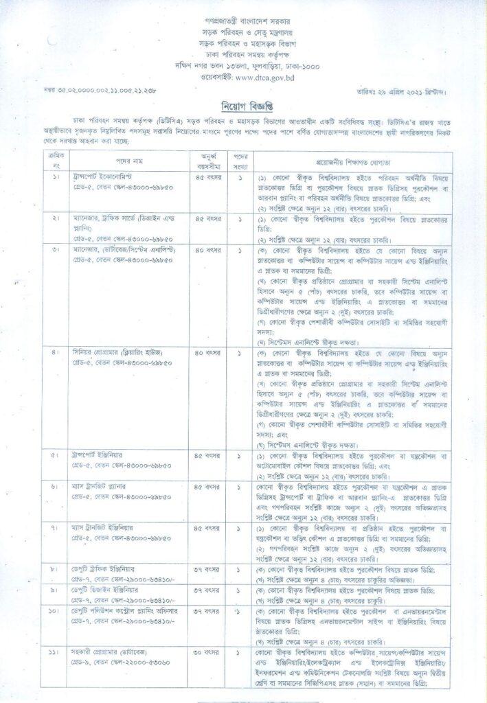 DTCA Job Circular 2021 bdjobspublisher.com 3