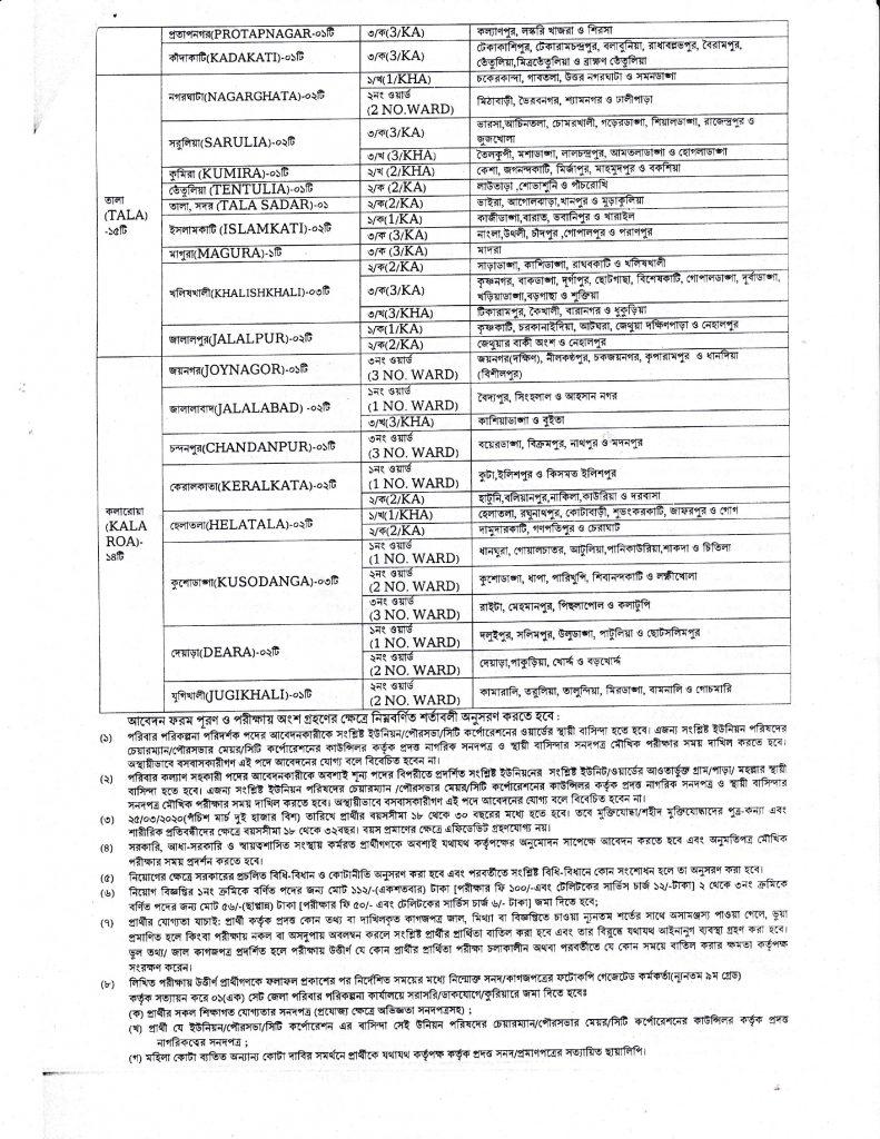 Satkhira District Family Planning Office Job Circular 2021, District Family Planning Office Satkhira Job Circular 2021-3